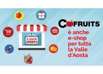 Cofruits è anche e-shop per tutta la Valle d'Aosta
